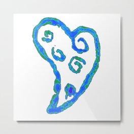 Blue Jade Love Metal Print