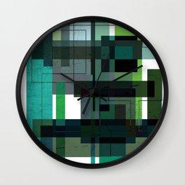 Green labyrinth Wall Clock