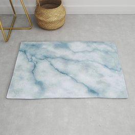 Light blue marble texture Rug