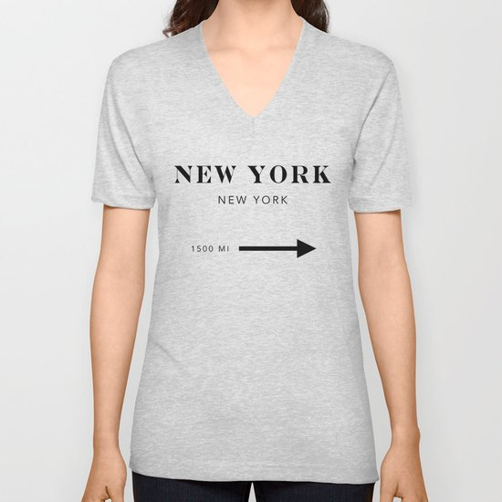 New York New York City Miles Arrow by typologiepaperco