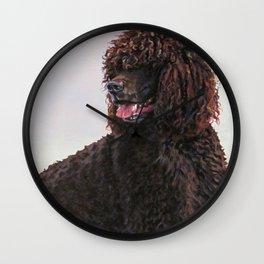 Irish Water Spaniel dog art from an original painting by L.A.Shepard Wall Clock