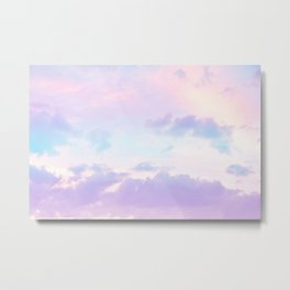 Unicorn Pastel Clouds #1 #decor #art #society6 Metal Print