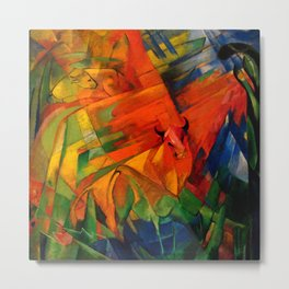 "Franz Marc ""Animals in a Landscape"" Metal Print"