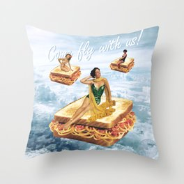 Sandwich Airlines - Come fly with us! Throw Pillow