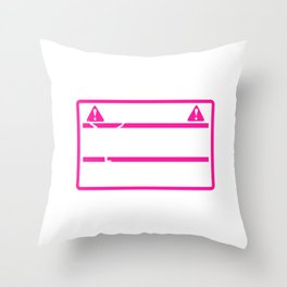 Warning Gymnast Could Flip At Any Moment graphic Throw Pillow