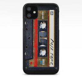Retro classic vintage gold mix cassette tape iPhone Case