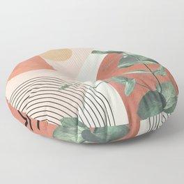Nature Geometry IV Floor Pillow