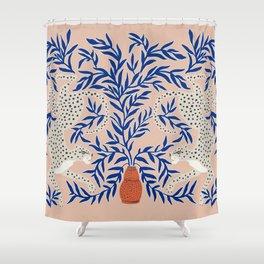 Leopard Vase Shower Curtain