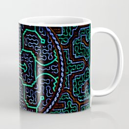 Song to protect the home - Traditional Shipibo Art - Indigenous Ayahuasca Patterns Kaffeebecher