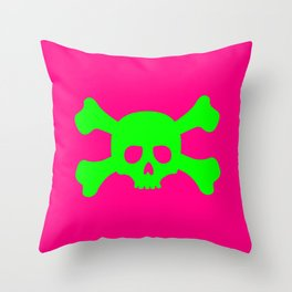 Toxic Skull Throw Pillow