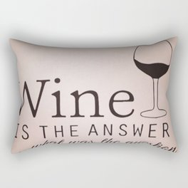 the answer at all Rectangular Pillow