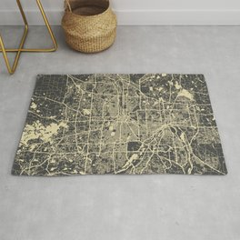 Minneapolis Map yellow Rug