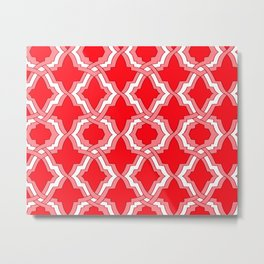 Grille No. 1 -- Red Metal Print