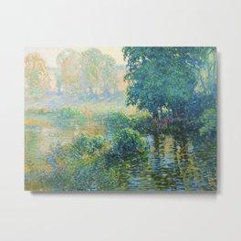 Václav Radimský (1867-1946) Bath Modern Impressionist Oil Painting Colorful Bright Landscapes Metal Print