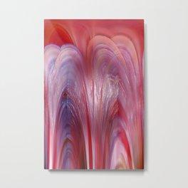 Rubrum abstractionem Metal Print
