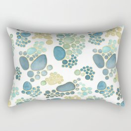 Pebbles in Light Blue Pattern Rectangular Pillow