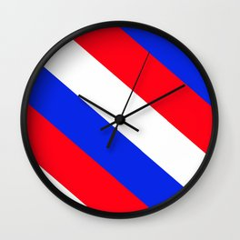 Red, White and Blue - 2 Wall Clock