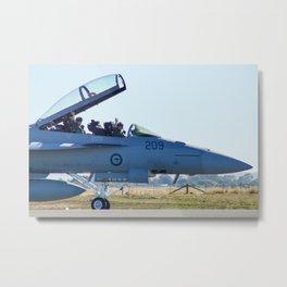 RAAF FA-18 Hornet Metal Print