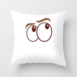 "Sarcastic Shirt Full Of Sarcasms Saying ""This Is How I Roll My Eyes Out Loud"" T-shirt Provocative Throw Pillow"