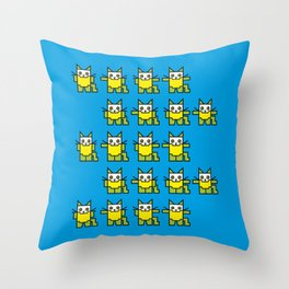 Catroid Pattern Throw Pillow