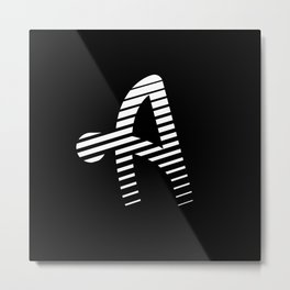 ALPHABET STREET A Alfa Metal Print
