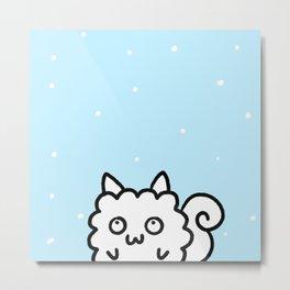 Snow//Sheepmunk Metal Print