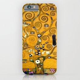 Gustav Klimt Tree Of Life Gold Version iPhone Case