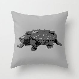 Turtle in the Mist Throw Pillow