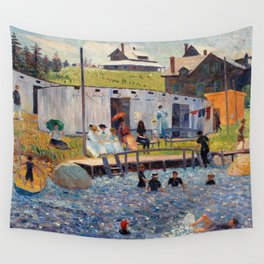 Pierre-Auguste Renoir - The Bathing Hour, Chester, Nova Scotia Wall Tapestry