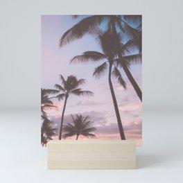 Pastel Palm Trees Mini Art Print