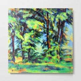 Cezanne Tall Trees in the Jas de Bouffan Metal Print