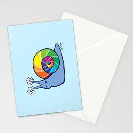 Rainbow Snail Stationery Cards