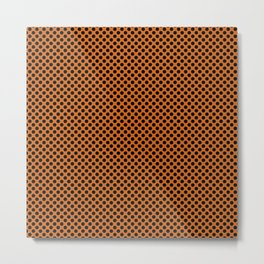 Autumn Maple and Black Polka Dots Metal Print
