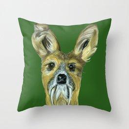 Deer (Musk Deer) Throw Pillow