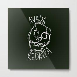 Avada Kedavra Metal Print