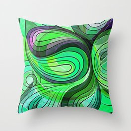 So Nothing Is Created Perfect - Stagnant  Rıver Throw Pillow