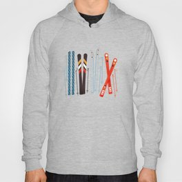 Retro Ski Illustration Hoody