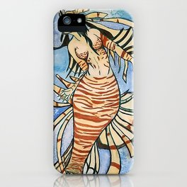 Lionfish Mermaid iPhone Case