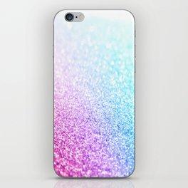 Uniorn Sparkle Pink Lavender Blue Seafoam iPhone Skin