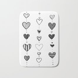Heart garlans Bath Mat