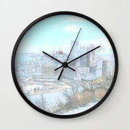 Downtown Pittsburgh 1 Wall Clock