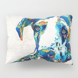 Great Dane Art - Stick With Me - By Sharon Cummings Pillow Sham