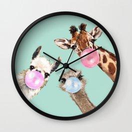 Bubble Gum Gang in Green Wall Clock