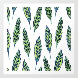 Painted Leaves Art Print
