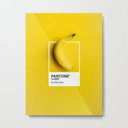 PANTONE SERIES – GO BANANAS Metal Print