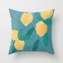 The Pastel Lemon View Throw Pillow