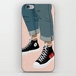 Hidden Heart - All Star Converse iPhone Skin