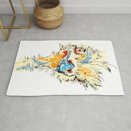 The Snotty Ostrich Rug
