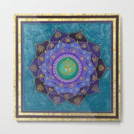 Spiritual Aspiration Mandala Metal Print