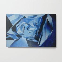 Cubist Portrait of Pablo Picasso: The Blue Period  Metal Print